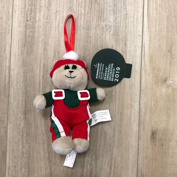 Starbucks Teddy bear ornament
